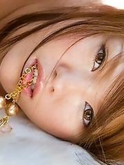 Sexy and horny Japanese av idol Miyu Sakurai shows her amazing naked body with twist