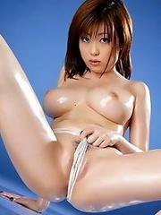 Big boobs japan girl Rio Hamasaki shows her sexy body