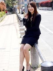 Hikaru Matsu loves posing outdoors