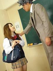 Ria Sakurai gets rammed in class
