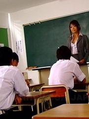 Yuno Hoshi enjoys being bad teacher