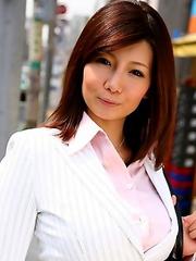 Business woman Sayuri Mikami poses