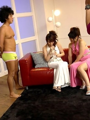 Honami and Alice enjoy in foursome