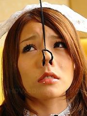 Sexy Aoi Yuki spreads her vagina