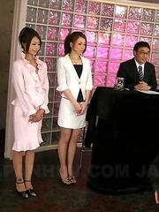 Japanese cock suckers Yuri and Yu