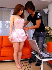 Hot gal Momoko Aiuchi sucks a dick