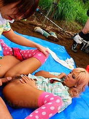 Hot Raina and Rara in a nasty orgy