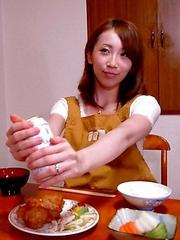 Yui Saejima sucks a huge meat pole
