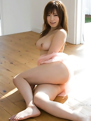 Rey Aoi Strips and Fingers Pink Tits