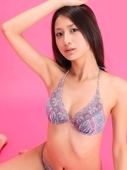 Misaki Takahashi in lingerie has all she needs for a model