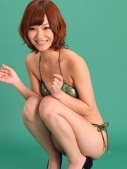 Ichika Nishimura on heels looks simply hot in lingerie