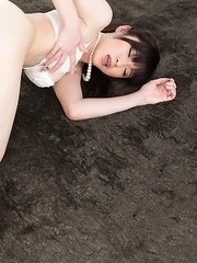Sara Yurikawa wears a skirt as she gets her feet and legs plowed aggressively